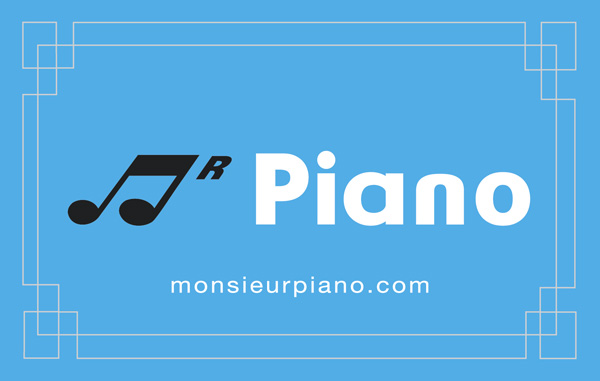 Carte Visite Monsieur Piano